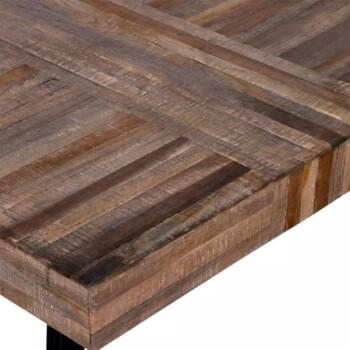 Mesa de centro cuadrada madera reciclada 2 es
