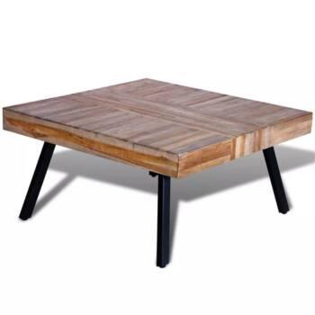 Mesa de centro cuadrada madera reciclada ES
