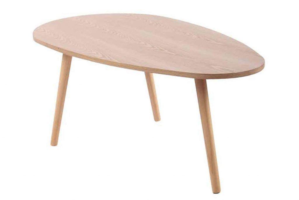 Mesa de centro larga madera natural es