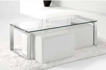 Mesas de centro Cristal y acero Categoría es
