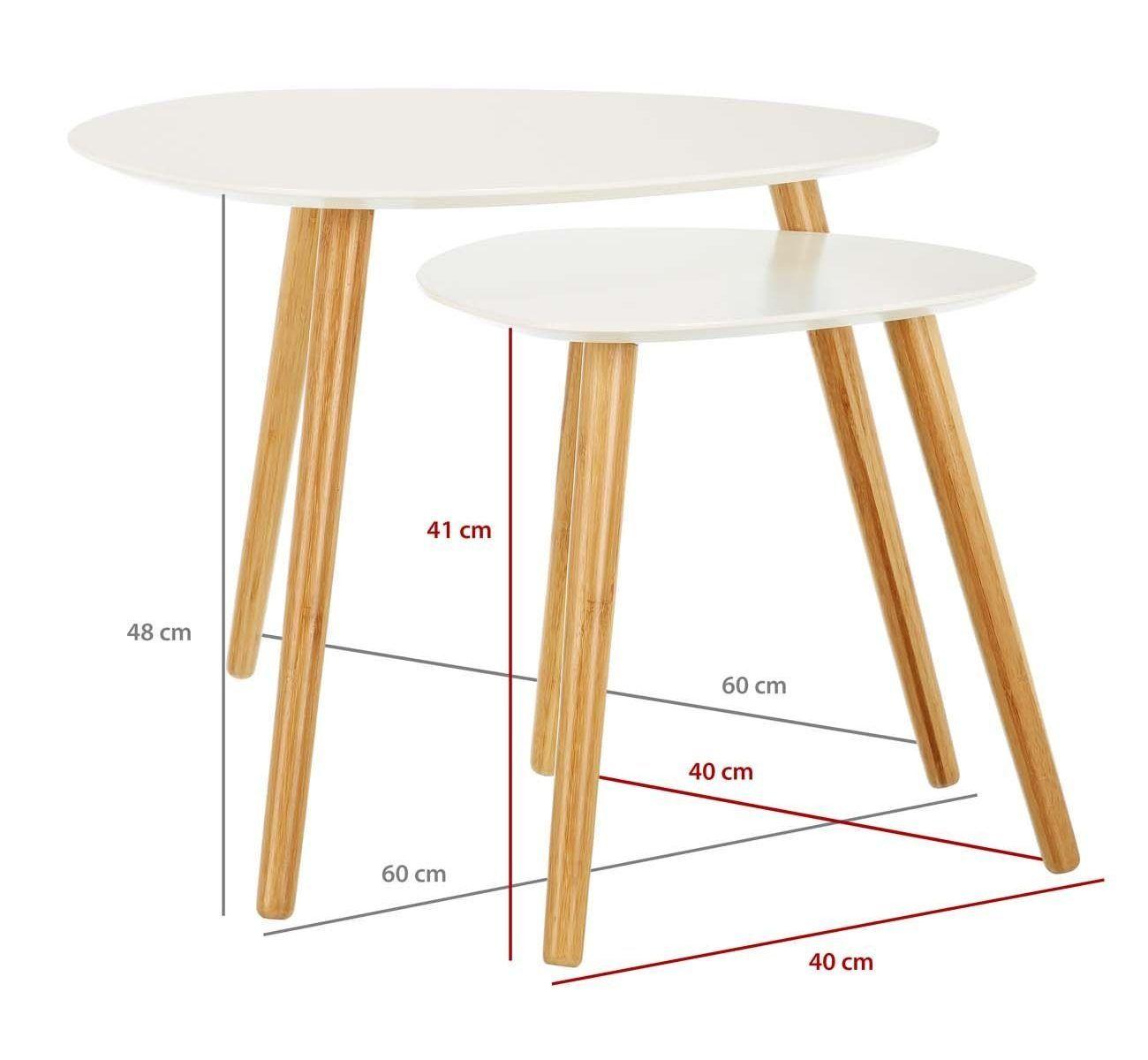 Mesas de centro altas blancas a1 es