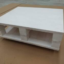 Mesa de Centro hecha con palets blanco mate es