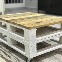 Mesa de Centro hechas con palets blanca ES