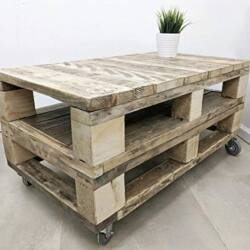 Mesa de Centro hechas con palets madera natural ES