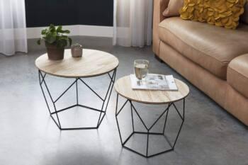 Pack de mesas de centro modernas-industriales lifa 2 es