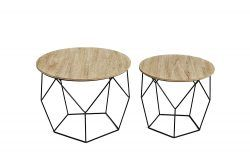 Pack de mesas de centro modernas-industriales lifa es