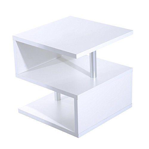 Mesa de centro en blanco lacado es