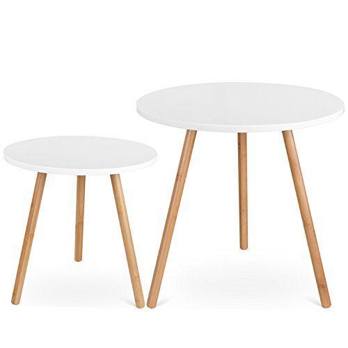 Mesas de centro en color blanco x 2 es