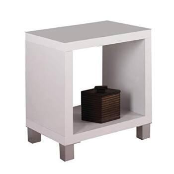 Mesa de centro blanca auxiliar es