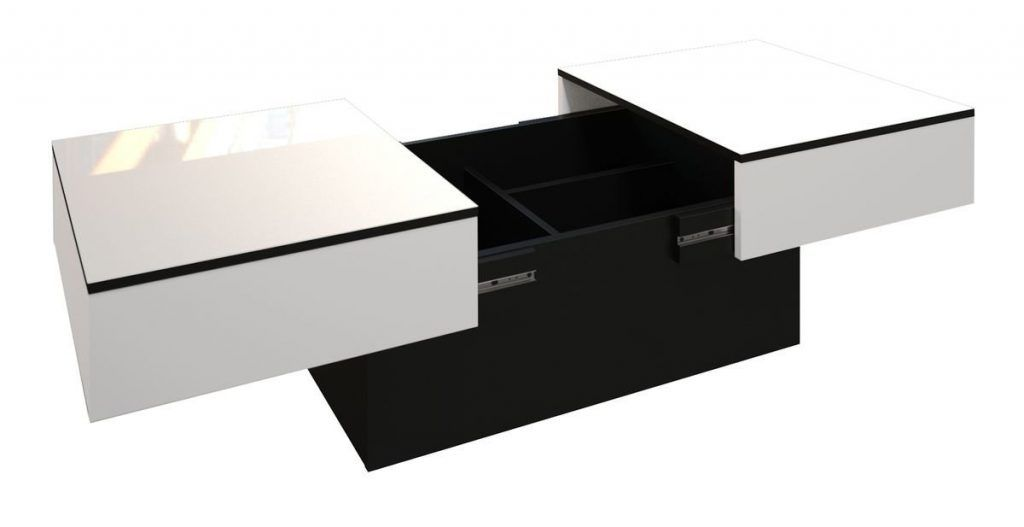 Mesa de centro creativa blanca lacado 2 es