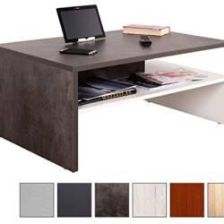 Mesas de centro estilo abierta dos colores es