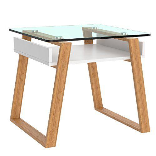 Bonvivo Pablo Mesa Pequena Auxiliar Puede Usarse Como Mesa De Cafe Moderna O Mesa Auxiliar Para El Salon Mesas De Cristal Para Cocina Mesita
