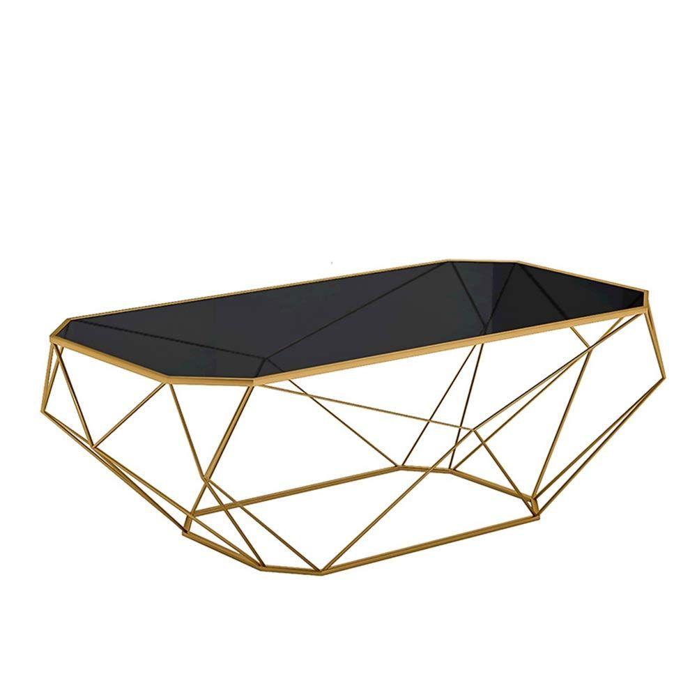 Mesa de centro de mármol rectangular negra 02 ES