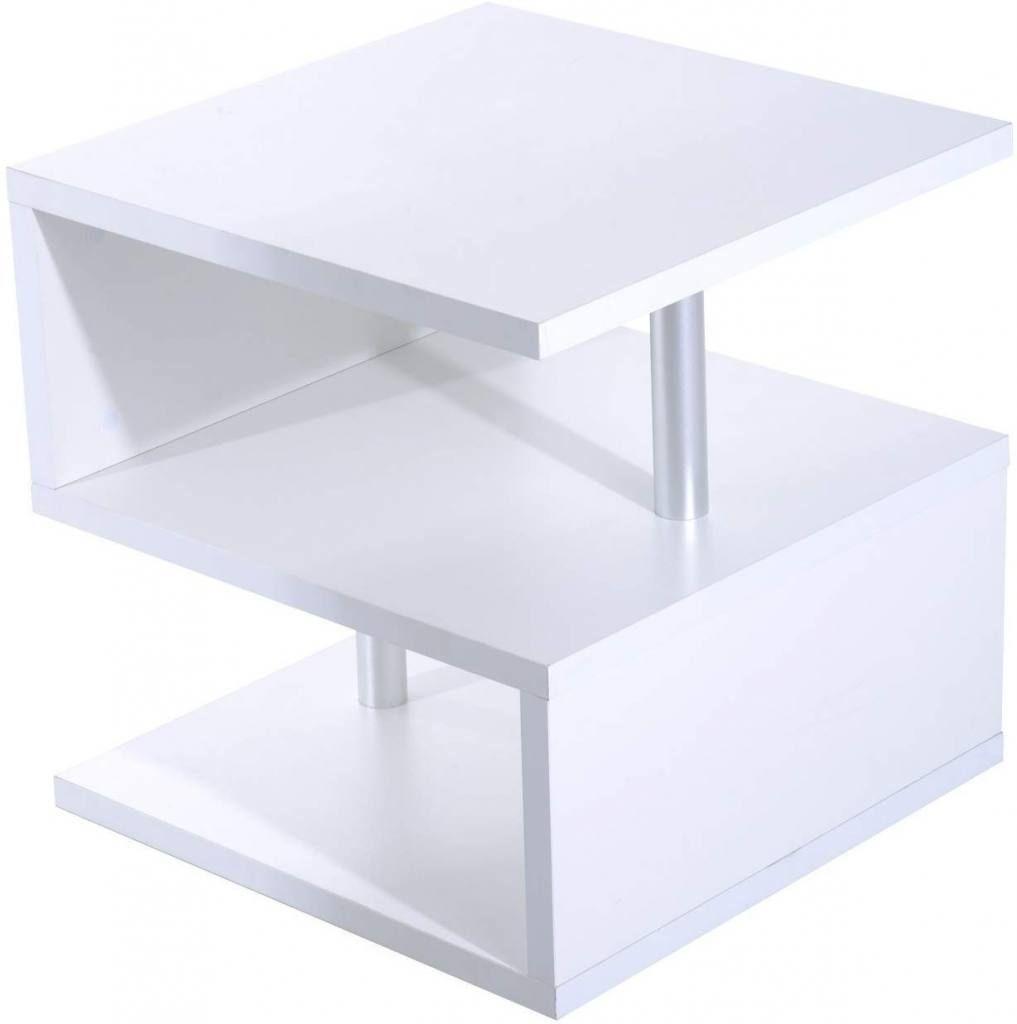 Mesa de centro barata blanca pequeña