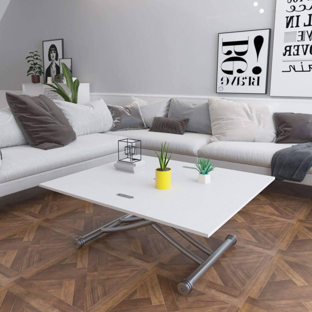 mesa de centro elevable y extensible de diseño