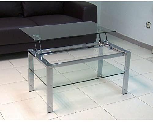 Mesas de centro de cristal elevables