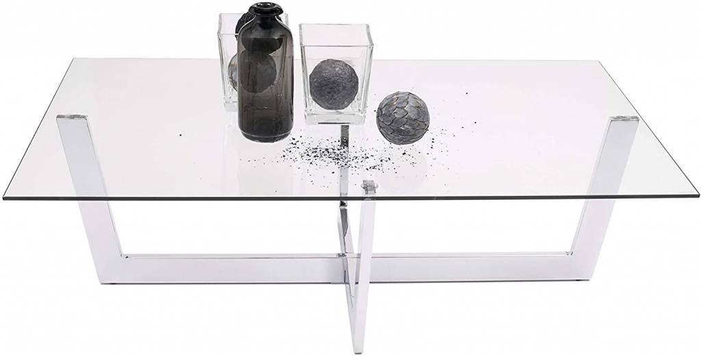 Mesas de centro de cristal y metal