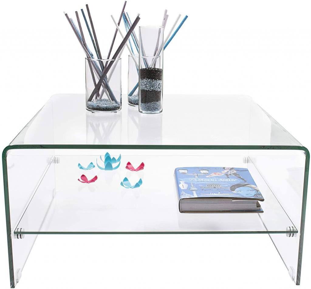 Mesa de Centro Cuadrada de cristal